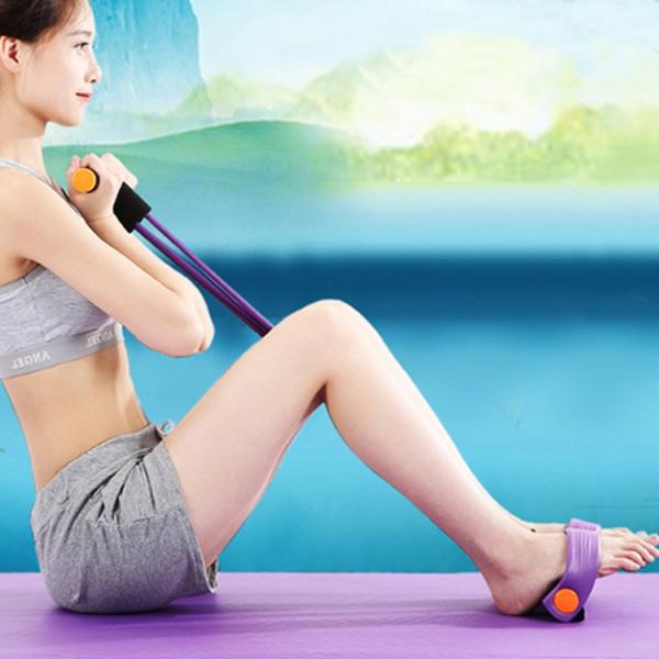 Aparat Extensor Fitness Multifunctional Premium, pentru Tonifiere Abdomen, Brate, Piept, Picioare, Ultra Portabil Elastic 2