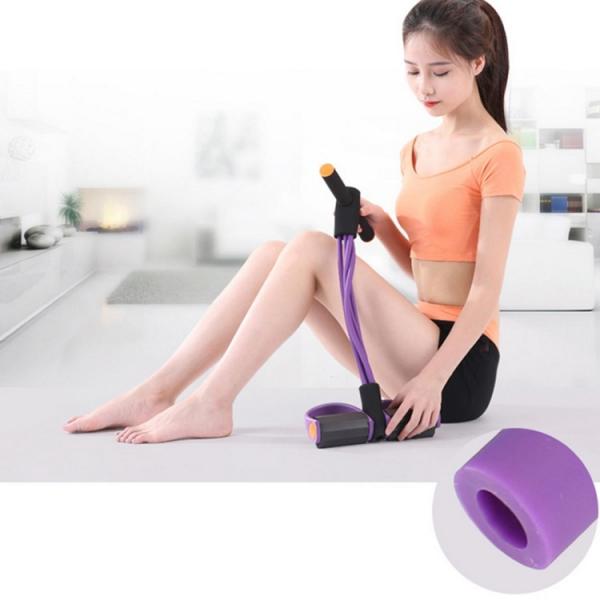 Aparat Extensor Fitness Multifunctional Premium, pentru Tonifiere Abdomen, Brate, Piept, Picioare, Ultra Portabil Elastic 4