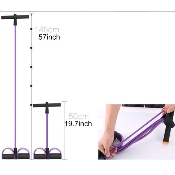 Aparat Extensor Fitness Multifunctional Premium, pentru Tonifiere Abdomen, Brate, Piept, Picioare, Ultra Portabil Elastic 7