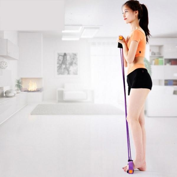 Aparat Extensor Fitness Multifunctional Premium, pentru Tonifiere Abdomen, Brate, Piept, Picioare, Ultra Portabil Elastic 3