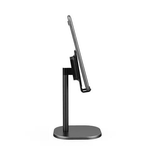 Suport Premium Metalic pentru Tableta sau Telefon cu Inaltime si Unghi de Vizualizare Reglabil - Negru 8