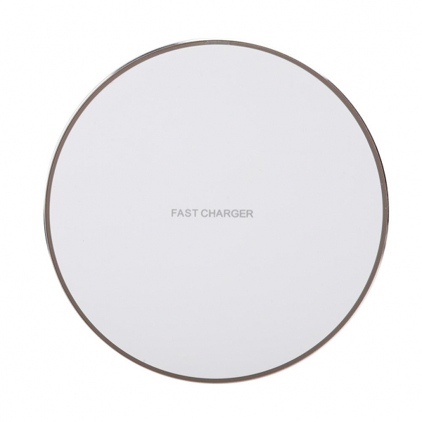 Incarcator Wireless Fast Charge Ultra-Slim Qi Compatibil Android IOS 1.2A - Alb Incarcator samsung apple huawei original  Incarcare rapida fast charge fara fir 1