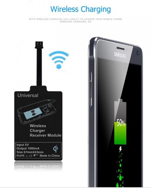 Adaptor Incarcare Wireless pentru Telefon sau Tableta cu Mufa USB Tip C - Fast Charge 0
