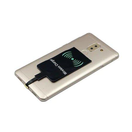 Adaptor Incarcare Wireless pentru Telefon sau Tableta cu Mufa USB Tip C - Fast Charge 8
