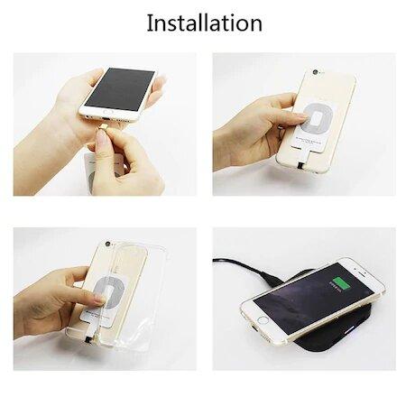 Adaptor Incarcare Wireless pentru Telefon sau Tableta cu Mufa USB Tip C - Fast Charge 7