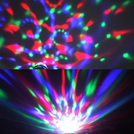 Bec cu Stroboscop Disco si 5 Lumini, pentru Petreceri [4]