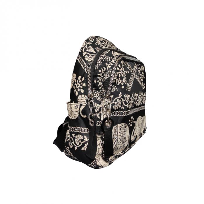 Ghiozdan cu 7 Buzunare si Bretele Ajustabile, Textil, Model Deosebit Premium, Imprimeu Elefant, Original Deals® [1]