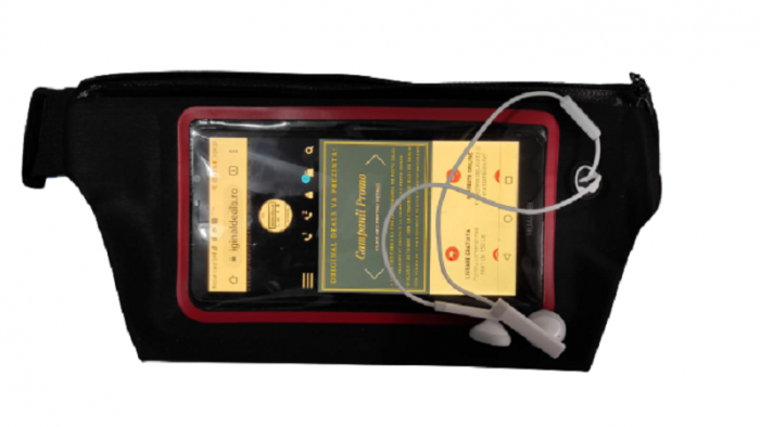 Borseta Sport pentru Alergare, cu Ecran Touch Screen pentru Telefon si Suport pentru Casti, 2 Compartimente, Curea Reglabila, Impermeabila, Premium 0