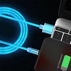 Cablu USB 3.0 Fast & Safe Charging 3.6A cu Mufa Magnetica Neodim 360° cu Lumini Full LED Cablu de incarcare telefon 14