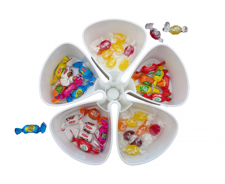 Cutie cu 5 Compartimente si Capac, pentru Servit Fructe Uscate, Premium [0]