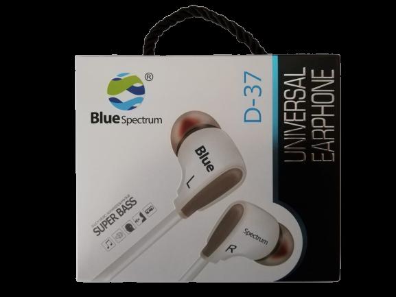 Casti Audio BlueSpectrum Originale cu Fir Sunet Fin si Clar cu Bass Puternic Stereo D-37 Alb Sunt Puternic Bass Putenic [2]
