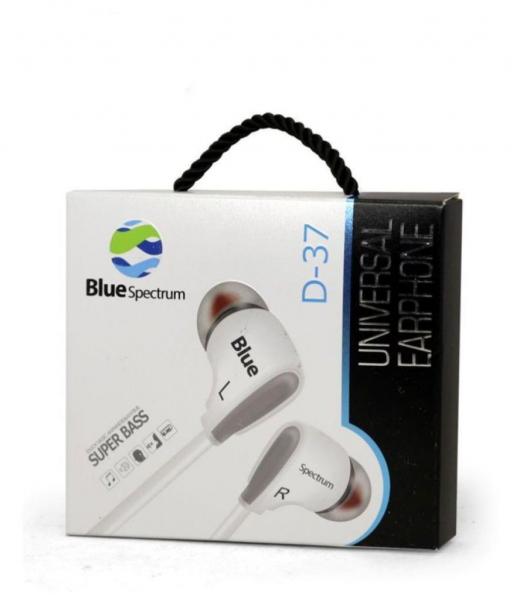 Casti Audio BlueSpectrum Originale cu Fir Sunet Fin si Clar cu Bass Puternic Stereo D-37 Alb Sunt Puternic Bass Putenic [0]