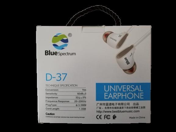 Casti Audio BlueSpectrum Originale cu Fir Sunet Fin si Clar cu Bass Puternic Stereo D-37 Alb Sunt Puternic Bass Putenic [5]