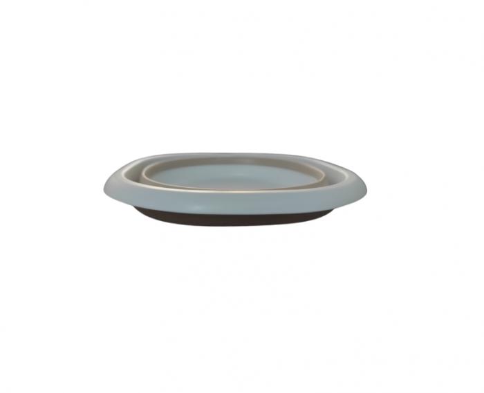 Castorn Pliabil Multifunctional din Silicon si PVC, 27cm, Alb, Premium [2]