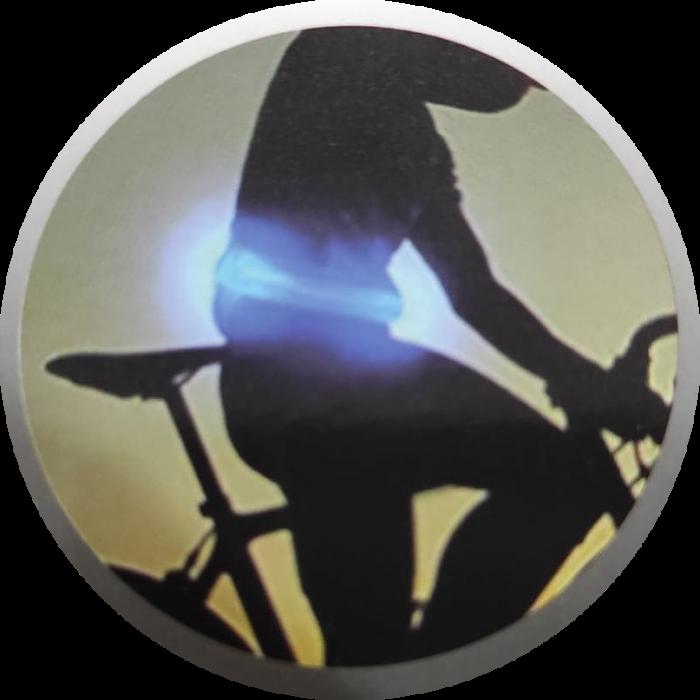 Borseta Sport Neopren pentru Alergare, cu Buzunar pentru Telefon si Banda Lumina LED, Reflectorizanta, 1 Compartiment Mare, Curea Elastica Reglabila, Impermeabila, Albastru 4