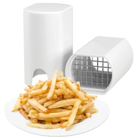 Aparat Cutit Multifuntional pentru Taiat Cartofi Pai, Legume sau Fructe, Ergonimic si Eficient, Alb, ABS [0]