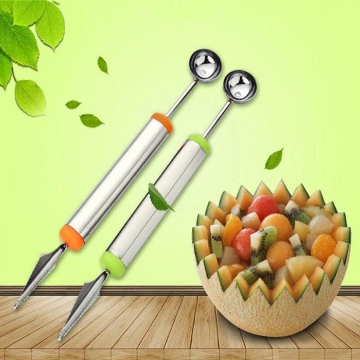 Cutit pentru Scobit, taiat, si Pentru Facut Forme in Legume si Fructe, Inox Premium [3]