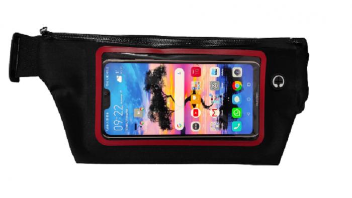 Borseta Sport pentru Alergare, cu Ecran Touch Screen pentru Telefon si Suport pentru Casti, 2 Compartimente, Curea Reglabila, Impermeabila, Premium 2