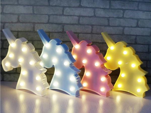 Lampa de Veghe cu Lumina Ambientala LED  - Unicorn Roz Lucios Sclipitor 7