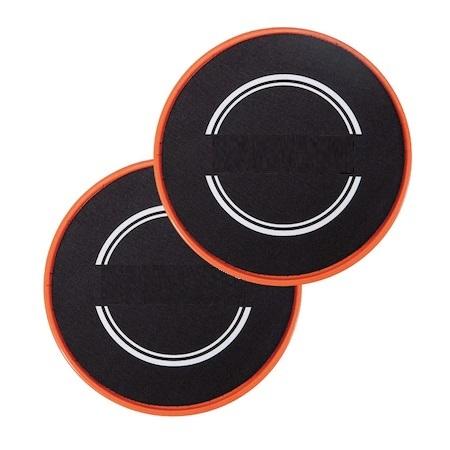 Set 2x Discuri Alunecare pentru Antrenament Sportiv Fitness, Usoare si Portabile, 18cm Premium 0