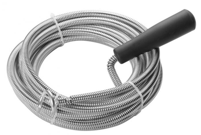 Sarpe pentru Desfundat Tevi de Scurgere, Compatibil pentru Chiuveta, Cada sau Dus, Metalic, 3 Metri [0]
