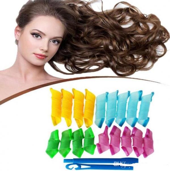 Set 18 Bigudiuri Flexibile Spiralate pentu Coafat Ondulat si Buclat Parul Scurt si Mediu - Multicolor [7]