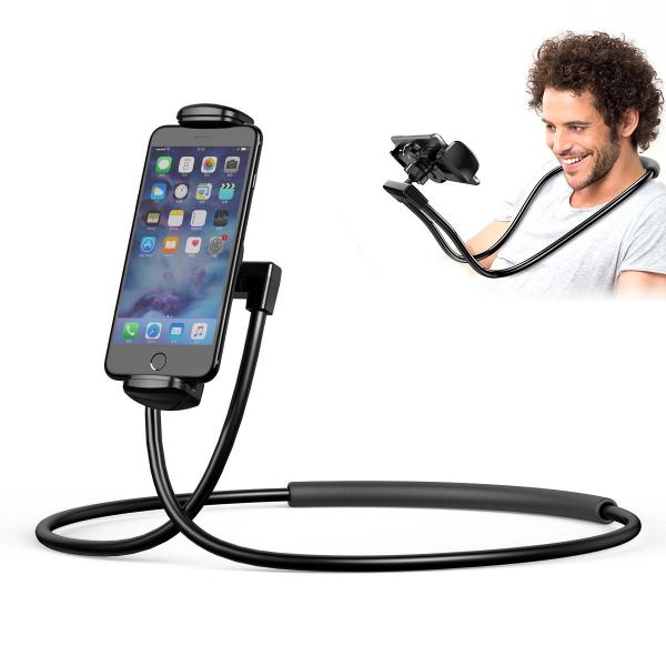 Suport Multifunctional Flexibil pentru Gat Reglabil compatibil Telefon sau Tableta Premium Vlog Universal 11