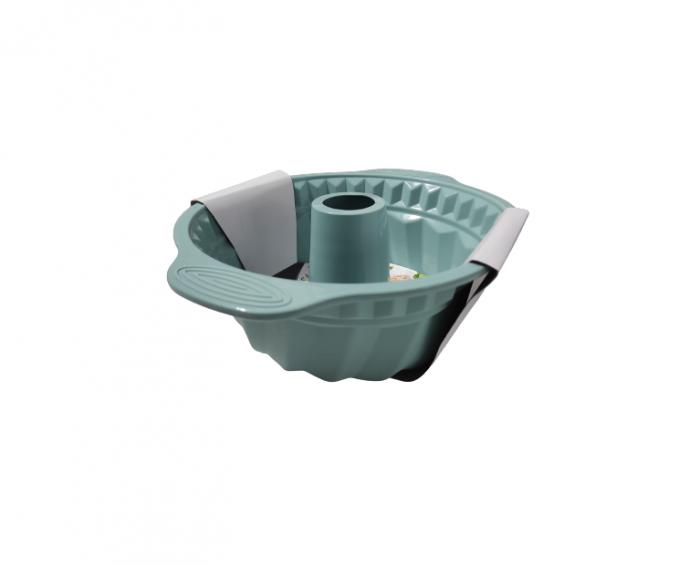 Forma pentru Tort si Prajituri din Silicon Non-Stick, Turcoaz, Calitate Premium, 24cm [3]