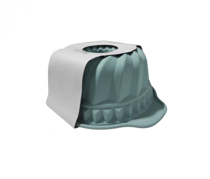 Forma pentru Tort si Prajituri din Silicon Non-Stick, Turcoaz, Calitate Premium, 24cm [2]