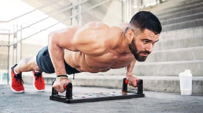 Placa Fitness pentru Antrenamente Sportive si Flotari, cu Manere pentru Tonifiere Muschi Abdominali, Piept, Biceps, Triceps, Spate, Umeri [2]