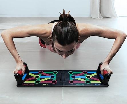 Placa Fitness pentru Antrenamente Sportive si Flotari, cu Manere pentru Tonifiere Muschi Abdominali, Piept, Biceps, Triceps, Spate, Umeri [1]