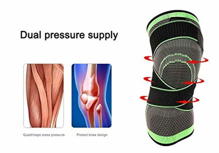 Genunchiera pentru Protectie Genunchi si Picior, Supraelastica pentru Sportivi si Atleti, Premium, Original Deals® [9]