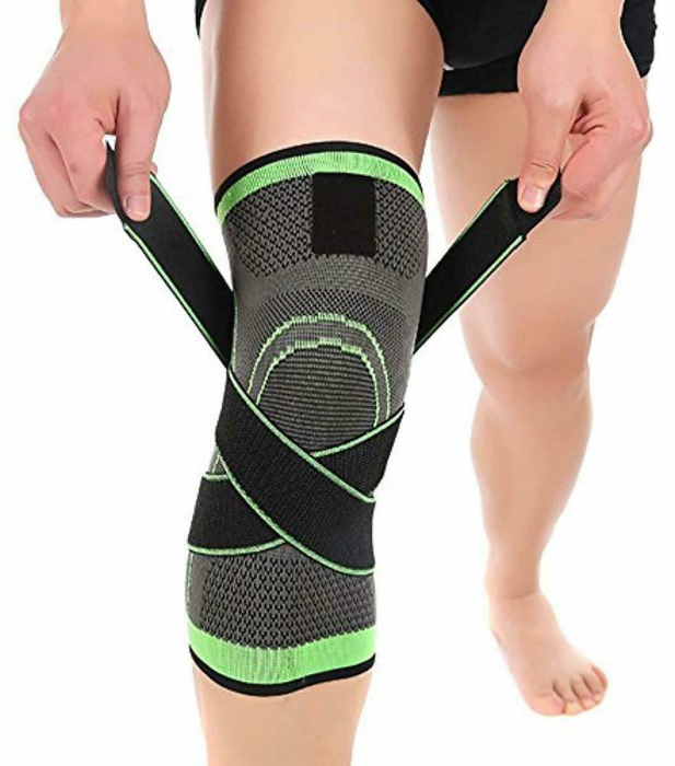 Genunchiera pentru Protectie Genunchi si Picior, Supraelastica pentru Sportivi si Atleti, Premium, Original Deals® [2]