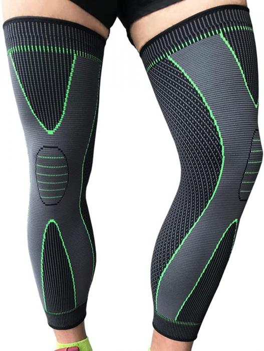 Protectie Elastica pentru Genunchi, Gamba si Picior, Supraelastica pentru Sportivi si Atleti, Premium, Original Deals® [5]