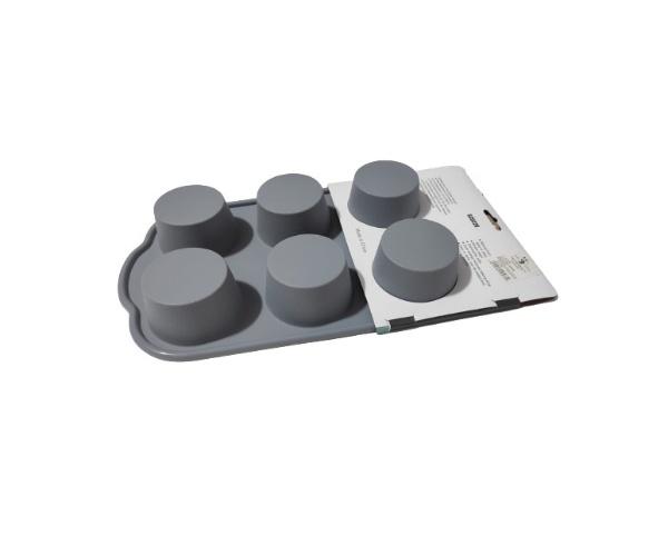 Forma din Silicon pentru Briose si Prajituri, Non-Stick, Gri, Design Deosebit si Calitate Premium [4]