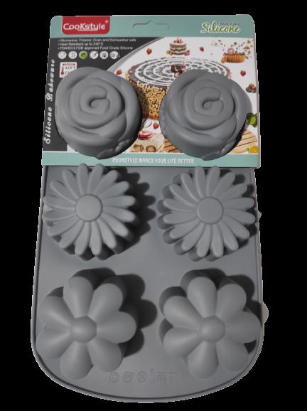 Forma pentru Briose si Prajituri din Silicon Non-Stick, Gri, Design Deosebit si Calitate Premium [3]