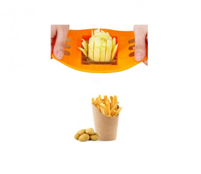 DIspozitiv pentru Feliat si Taiat Cartofii Pai pentru Prajit, Portocaliu [0]
