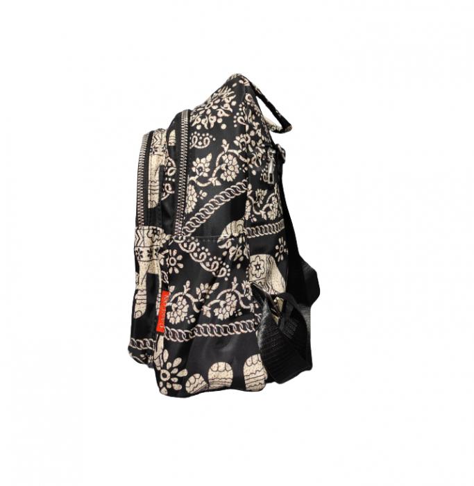 Ghiozdan cu 7 Buzunare si Bretele Ajustabile, Textil, Model Deosebit Premium, Imprimeu Elefant, Original Deals® [4]