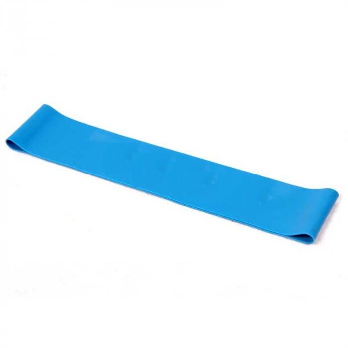 Banda Elastica de Rezistenta din Latex pentru Tonifiere Muschi Piept, Brate, Spate, Abdomen, Picioare, Albastru 12