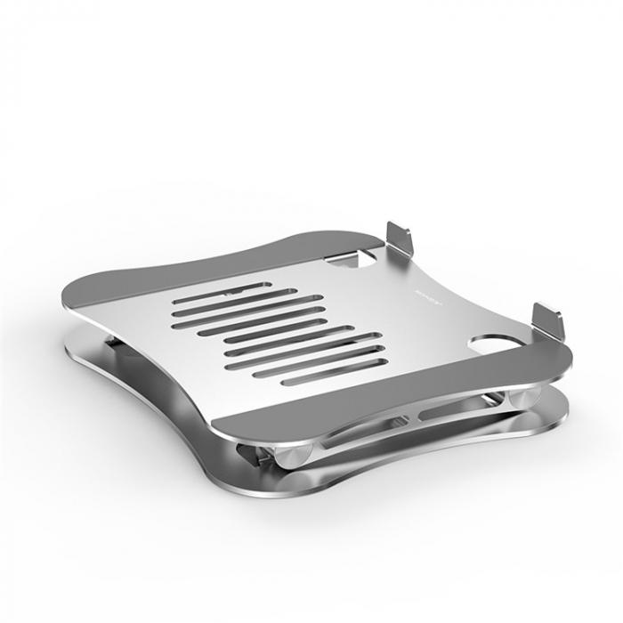 Suport pentru Laptop sau Notebook din Aluminiu, Pozitie si Inaltime Ajustabila, Portabil, Design Premium, Compatibilitate Universala 4