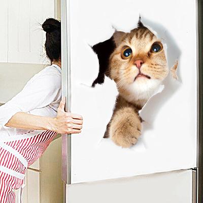 Sticker Autocolant Decorativ pentru Multiple Suprafete cu 3 Pisici Simpatice [1]