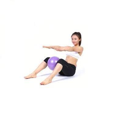 Minge Medicinala pentru Exercitii Fitness, Aerobic, Pilates, Yoga, Gonflabila, Premium 20cm, Rezistenta 100Kg [6]