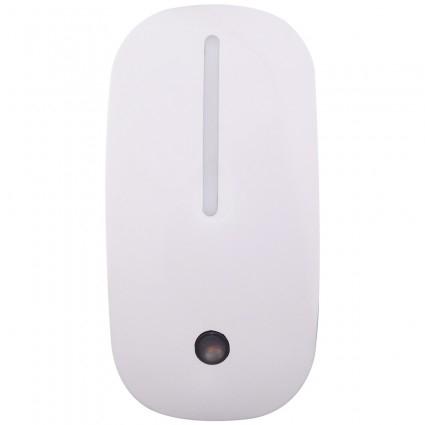 Lampa de Veghe cu Senzor de Lumina, tip Mouse pentru Priza, Lumina Alba, Consum Redus 1W, Universal, Alb 5