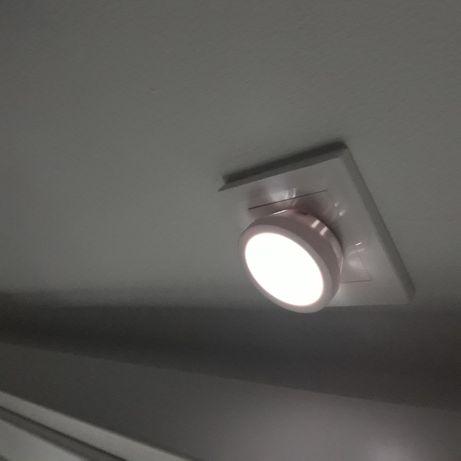 Set 3 Spoturi LED cu Senzor Luminos pentru Lumina de Veghe, la Retea, Universal, Alb [1]