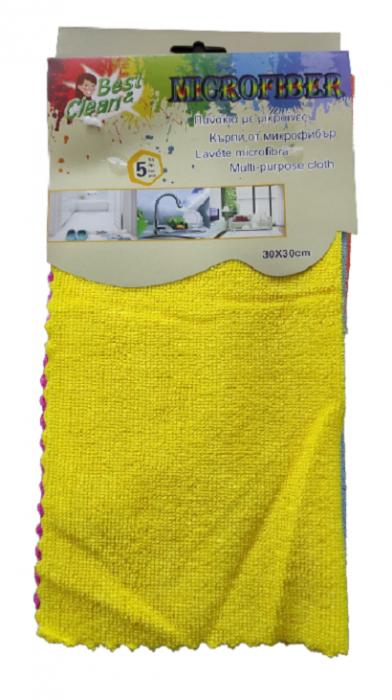 Set 5x Lavete Microfibra pentru Sters Praful pe Mobila, Lemn si Multisuprafete, 30 x 30cm, Multicolor, Premium 1