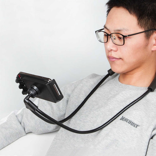 Suport Multifunctional Flexibil pentru Gat Reglabil compatibil Telefon sau Tableta Premium Vlog Universal 14