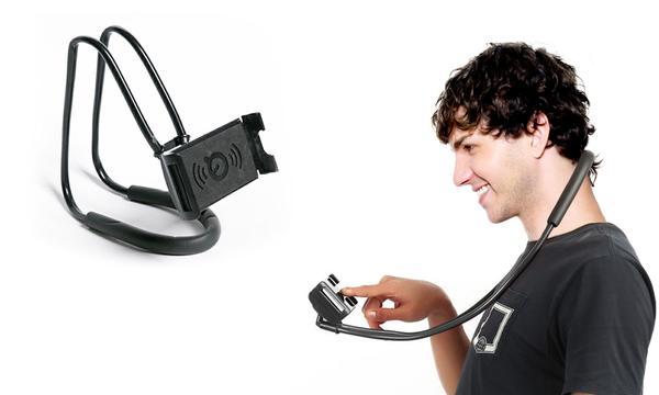 Suport Multifunctional Flexibil pentru Gat Reglabil compatibil Telefon sau Tableta Premium Vlog Universal 15