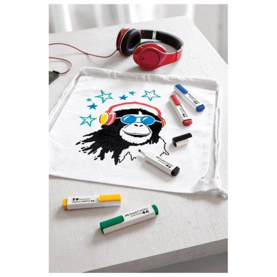 Set 3x Marker Permanent pentru Haine si Textile, 3 Culori, Rosu, Albastru, Galben, Premium, Universal [3]