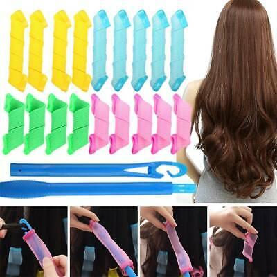 Set 18 Bigudiuri Flexibile Spiralate pentu Coafat Ondulat si Buclat Parul Scurt si Mediu - Multicolor [8]