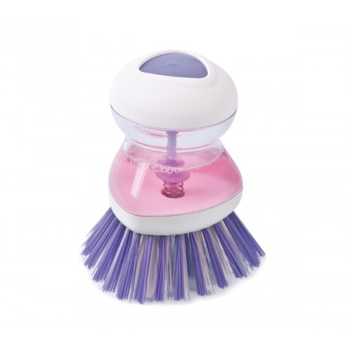 Perie pentru Spalat Vase cu Recipient pentru Detergent Lichid, Premium, Mov [3]
